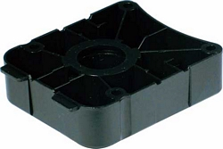 Plinth foot top section, screw fixing