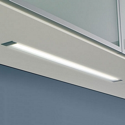 Fluorescent strip light, 240V, flush recessed