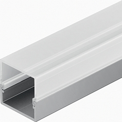 Aluminium profile, surface mounting
