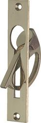 Mortice gravity drop pull handle, 130 x 25 mm