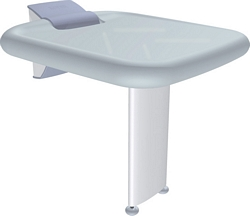 Shower seat with leg