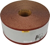 Abrasive roll, 115 mm wide, maroon aluminium oxide, for machine sanding