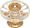 Knob, 38 mm Clear/polished Brass