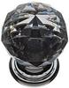 Crystal knobs, 30mm diameter