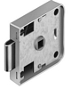 Sprung rim lock, for 7 mm square spindle