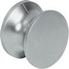 Push-Lock knob, 19 mm polished brass finish