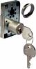 Rim lock, 22 mm cylinder, 40 mm backset, right handed, keyed alike