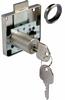 Rim lock with extended cylinder, 22 mm cylinder, 37 mm backset, random key changes
