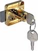 Rim lock, 18 mm cylinder, 26 mm backset, right handed, random key changes