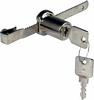 Glass door cylinder lock with rack