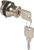 Glass door cylinder locks, with locking pin and backplate