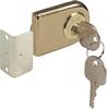 Glass door cylinder lever locks, random key changes