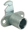 Cam lock case, inward cranked/hooked lever