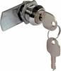 Cylinder cam lock, straight cam, 90/180 degree closure
