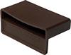 Slat pocket for single bed slat, rigid plastic