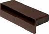 Slat pocket for double bed slat, rigid plastic