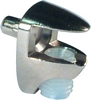 Glass shelf support, plug in for 5 mm hole, for 4-6 mm glass thickness