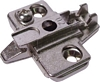 Super compact cruciform mounting plate, for click on system