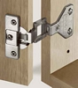 240º Regula centre hinge with exposed axle, press fit