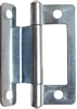 Cranked flush hinge, for 15-19 mm door thickness
