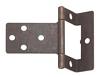 Cranked flush hinge, for 15-16 mm door thickness, medium duty