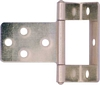 Cranked flush hinge, for 10 mm door thickness