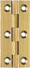 Narrow style brass butt hinge 201, 64 x 29 mm