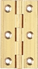 Broad style hinge 204, 75 x 42 mm - Self Colour