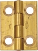 Brass butt hinge, 25 x 19 mm