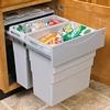 Easy-Cargo waste bin, 1 x 19, 1 x 30 litre