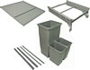 Ninka One2five Waste Bin Packed Set For Grass Dwd Or Blum Tandembox Drawer Systems