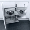 Wari Magic Corner swing out corner unit, automatic pull-out action, with PREMEA grey solid ba