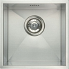 Stainless steel undermount single bowl, 370 x 430 mm
