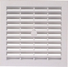 Ventilation grill, 154 x 154 mm, for recess mounting