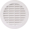 Ventilation grill, 123 mm, for recess mounting