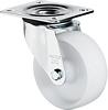 Swivel castor, 125mm diameter wheel, plate fixing