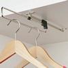 Pull-out wardrobe rail