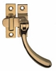 Casement fastener, hook plate, brass, polished chrome plated