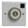 Flush mounted electro-magnetic door retainer