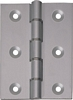 Aluminium butt hinge, nylon washered, 76 x 51 mm