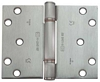 Stainless steel hinge, 3 knuckle, projection, fixed pin, 100 x 124 mm