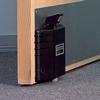 Dorgard acoustic fire door retainer Black