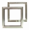 Low profile metal vision frame, 305 x 305 mm door cut out
