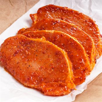 Chinese marinated free range boneless pork chops