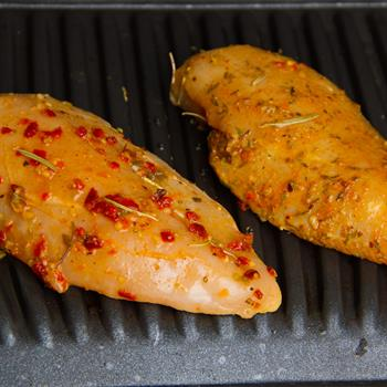 Garlic Butter marinated free range chicken breast pieces