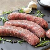 Free range pork sausages