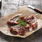 Garden mint marinated lamb chops