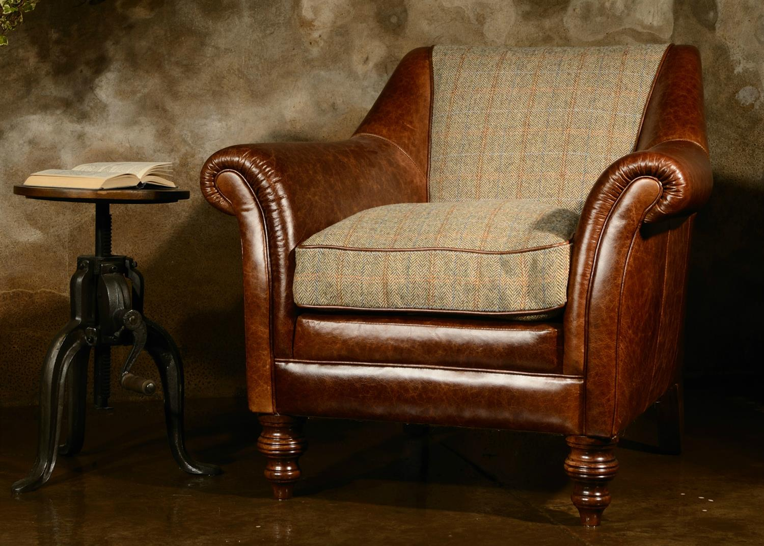 Tetrad Harris Tweed Dalmore Accent Chair. Hover Over The Image To Zoom