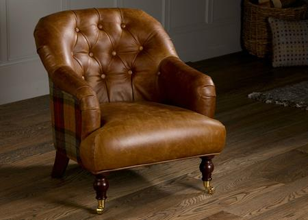 Harrington Low Back Chair - Skye Burnt Orange