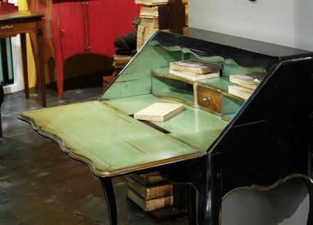 Painted Cherrywood Desk